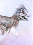 4 Dromeosauridae Grafito y lapiz conte sanguina sobre papel 297cm x 420cm A Jaraiz